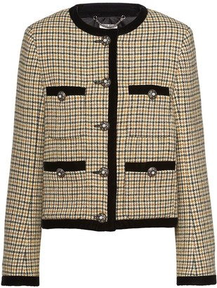 Miu Miu Houndstooth Check Jacket