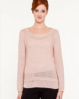Le Château Metallic Scoop Neck Sweater