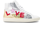 Saint Laurent Leather Love Sneakers