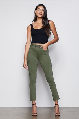 Good American The On Duty Cargo Pant   Olive009