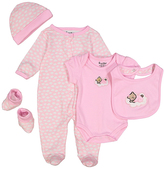 Sweet & Soft Pink Bear Five-Piece Layette Set - Infant