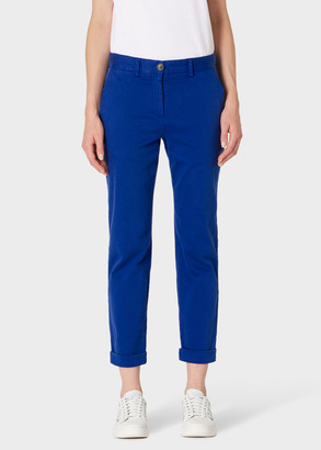 Paul Smith Women's Indigo Stretch-Cotton Chinos
