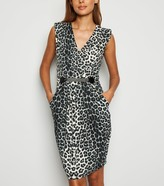 New Look Mela Leopard Print Belted Dress