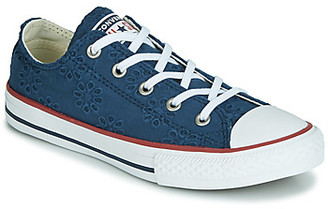 Converse CHUCK TAYLOR ALL STAR BROADERIE ANGLIAS OX girls's Shoes (Trainers) in Blue