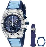 Technomarine Women's Cruise California TM-115014 Stainless Steel Watch with Interchangeable Blue Case Cover and Band