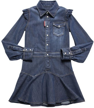 DSQUARED2 Stretch Cotton Denim Dress