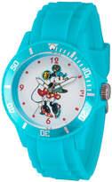 Disney Princess Disney Minnie Mouse Womens Blue Strap Watch-Wds000261