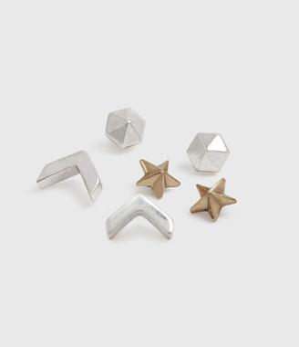 AllSaints Cosmic Gold-Tone Stud Earring Set