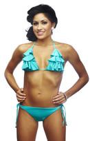 Nicolita Swimwear - Rumba Ruffles Blue Triangle Top Bikini
