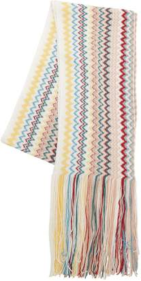 Missoni Striped Wool Blend Knit Scarf