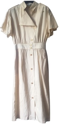 Ted Lapidus Beige Silk Dress for Women Vintage