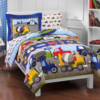 Factory Dream Kids Trucks & Transportation Twin Bed in a Bag Bedding set w/ Reversible Comforter
