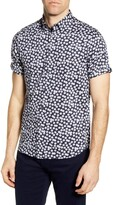 Ted Baker Relax Floral Short Sleeve Button-Up Shirt