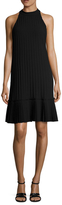 Nicole Miller Pleated Drop Waist A Line Dress