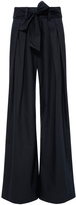 Sea Navy Tied Relaxed Pants