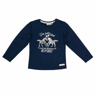 Salt&Pepper Salt and Pepper Girls' Horses Foilprint und Pailletten Longsleeve T-Shirt