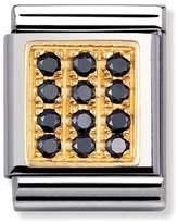 Nomination Big Black CZ Pave Charm 032314/10