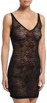 Cosabella Trenta Allover Lace Slip Dress, Black