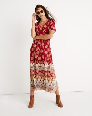 Madewell Tall Tulip-Sleeve Maxi Dress in Tall Sunflowers