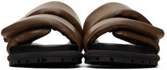 Dries Van Noten Brown Leather Slip-On Sandals