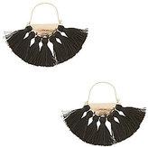 Natasha Accessories Tasseled Fan Hoop Earrings