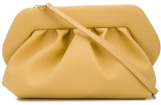 Themoire Gathered-Detail Clutch Bag