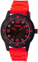 Crayo Unisex Splash Red Strap Watch Cracr2203