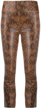 Sprwmn High Rise Snakeskin Print Trousers