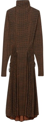 Proenza Schouler Crocodile-Print Long-Sleeved Dress