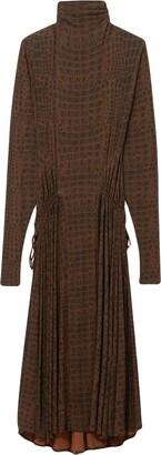 Proenza Schouler crocodile print long-sleeved dress