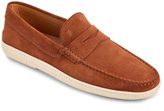 Tod's Brandy Marlin Hyannisport Suede Penny Moccasins
