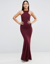 Club L Racer Front Maxi Dress In Crepe