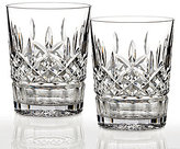 Waterford Lismore Crystal 12 oz Double Old Fashioned, Pair