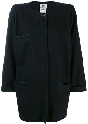 Emanuel Ungaro Pre-Owned 1980's Loose Collarless Coat