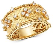 Bloomingdale's Diamond Band in 18K Textured Yellow Gold - 100% Exclusive
