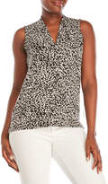 Vince Camuto Petite Printed Jersey Top