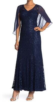 Ignite V-Neck Sequin Lace Gown