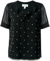 Coach star stud embellished top - women - Silk/Polyester - 4