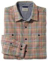 L.L. Bean L.L.Bean Men's Deer Isle Double-Cloth Shirt, Slightly Fitted Plaid