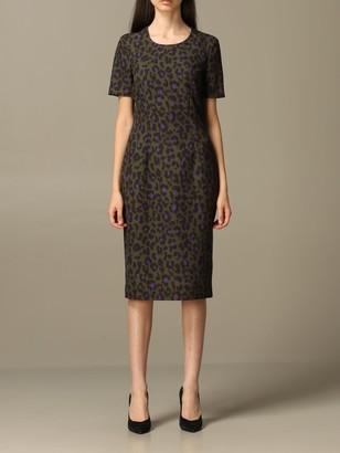 Boutique Moschino Moschino Boutique Animal Print Midi Dress