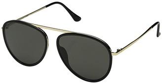 Super 56 mm Dokyu (Black/Gold) Fashion Sunglasses