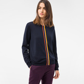 Paul Smith Women's Navy Wool Cardigan With 'Artist Stripe' Placket