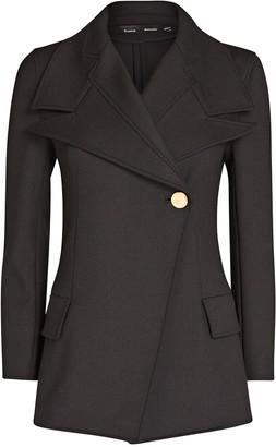 Proenza Schouler Novelty Lapel Stretch Suiting Blazer