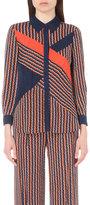 Diane Von Furstenberg Liara Stretch-silk Shirt