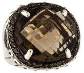 John Hardy Smoky Quartz Batu Bamboo Ring