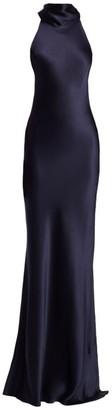 Galvan Sienna Long Silk Dress