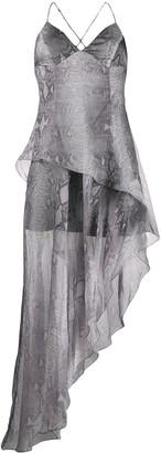 Amiri Snake printed long dress