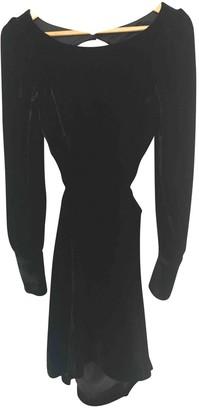 Topshop Tophop Unique Black Velvet Dress for Women