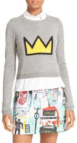 Alice + Olivia Women's Nikia Layered Look Crown Sweater