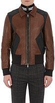 Neil Barrett Men's Patchwork Leather Jacket-BLACK